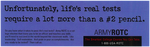 Army ROTC banner ad 1