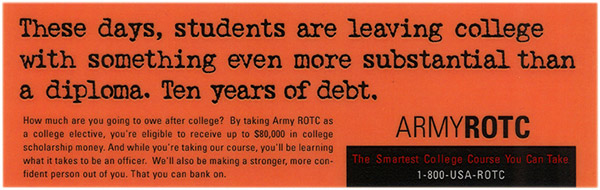 Army ROTC banner ad 2