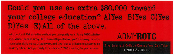 Army ROTC banner ad 5