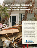 Chubb Insurance print ad catastrophic event 2